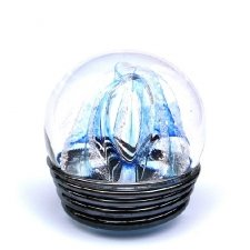 Aqua Embrace Medium Memory Glass Keepsake