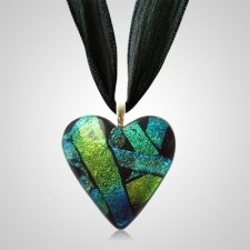 Aqua Heart Ashes Pendants