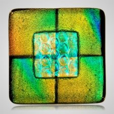 Aqua Yellow Cremation Ashes Tile
