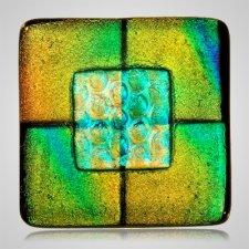 Aqua Yellow Cremation Ashes Tile