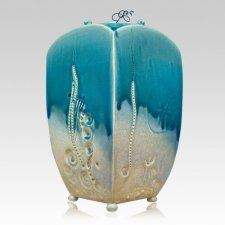 Aquatica Ceramic Cremation Urn