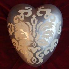Arabesque Ceramic Heart Urn