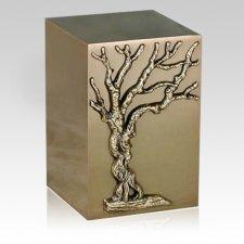 Arbor Vitae Bronze Cremation Urn