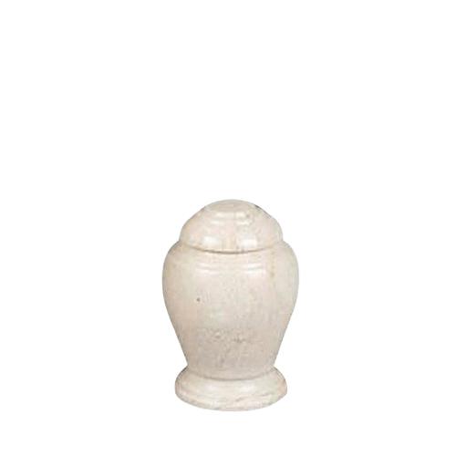 Aristo Creme Small Marble Urn