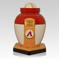Arizona Diamondbacks Baseball Cremation Urn