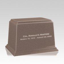 Ark Basil Wood Medium Marble Urn