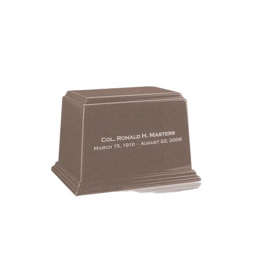 Ark Basil Wood Mini Marble Urn