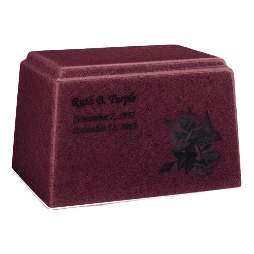 Ark Niche Raspberry Marble Urn