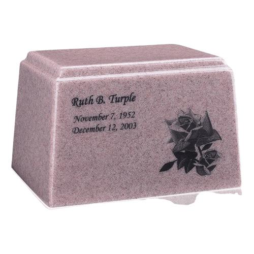 Ark Niche Rose Marble Urn