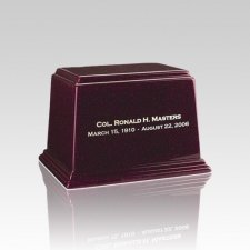 Ark Burgundy Small Marble Urn