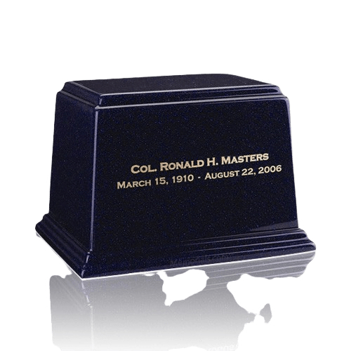 Ark Sapphire Blue Medium Marble Urn