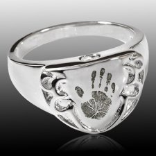 Armor Sterling Cremation Print Ring