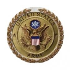 Army Cast Medallion Appliques
