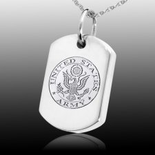 Army Dog Tag Cremation Pendant III