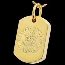 Army Dog Tag Cremation Pendant IV