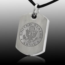 Army Dog Tag Cremation Pendant