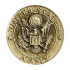 Army Seal Medallion Appliques