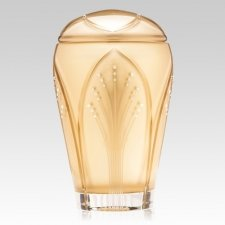 Art Nouveau Glass Cremation Urn