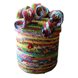 Artful Cotton Cremation Urn