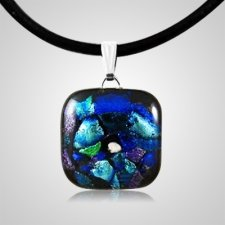 Arctic Dichroic Square Glass Ash Pendant