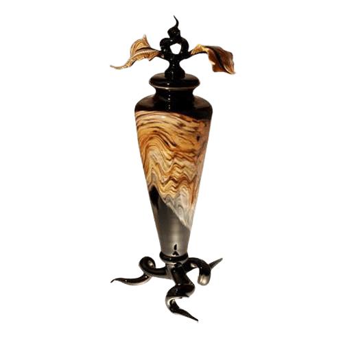 Tendril Black Cremation Urn