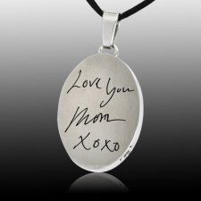 Artsy Oval Cremation Pendant