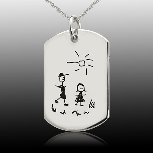 Artwork Tag Cremation Pendant