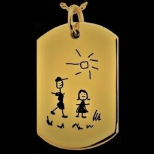 Artwork Tag Cremation Pendant IV