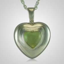 August Cremation Heart Pendant