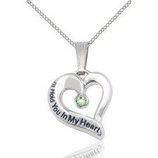 August Heart Keepsake Jewelry