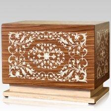 August Wood Cremation Urn