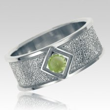 August Birthstone 14k White Gold Ring Print Keepsakes