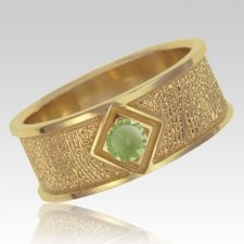 August Birthstone 14k Yellow Gold Ring Print Keepsake