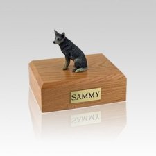 Australian Cattle Blue & Gray Small Dog Urn