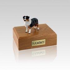 Australian Sheepdog Blue Docked Small Dog Urn