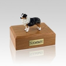 Australian Sheepdog Blue Large Dog Urn