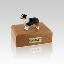 Australian Sheepdog Blue Medium Dog Urn