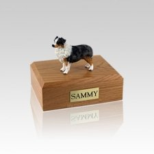 Australian Sheepdog Blue Small Dog Urn