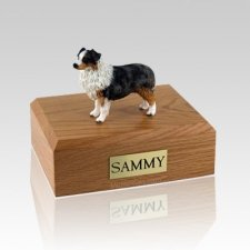 Australian Sheepdog Blue X Large Dog Urn