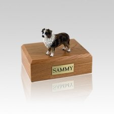 Australian Sheepdog Brown & White Small Dog Urn
