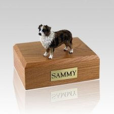 Australian Sheepdog Brown & White  Dog Urns
