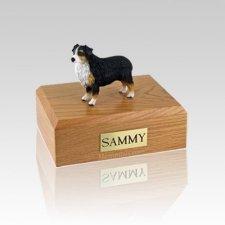 Australian Sheepdog Tri-Color Docked Medium Dog Urn