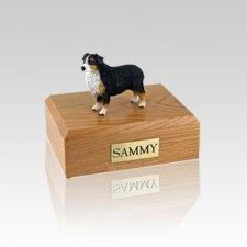 Australian Sheepdog Tri-Color Docked Small Dog Urn