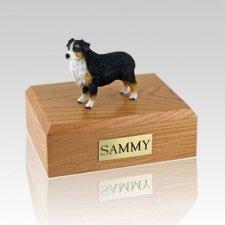 Australian Sheepdog Tri-Color Docked X Large Dog Urn
