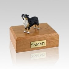 Australian Sheepdog Tri-Color Large Dog Urn