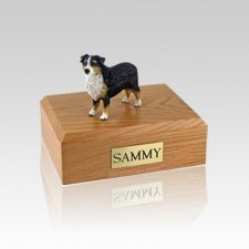 Australian Sheepdog Tri-Color Medium Dog Urn