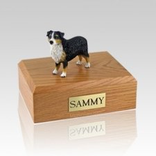 Australian Sheepdog Tri-Color X Large Dog Urn