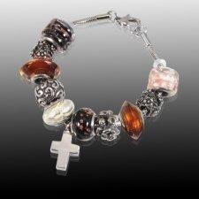 Autumn Cross Cremation Bracelet