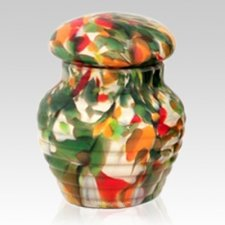 Autumn Glass Pet Urn