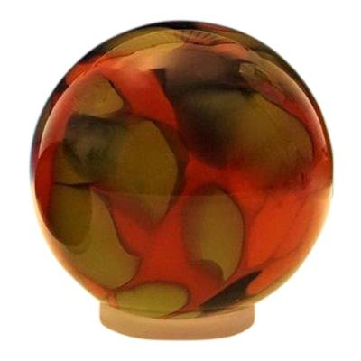 Autumn Orb Glass Pet Urn